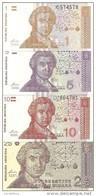 CROATIE 1-5-10-25 DINARA 1991 UNC P 16-17-18-19  ( 4 Billets ) - Croatia