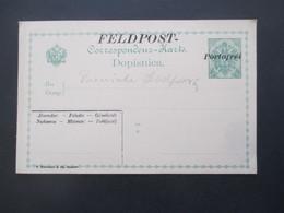 Österreich / Bosnien Feldpost Ganzsache P7 Mit Überdruck Feldpost Portofrei - Bosnien-Herzegowina