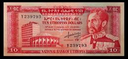 # # # Ältere Banknote Aus Äthiopien (Ethiopia) 10 Dollars 1966 # # # - Ethiopie