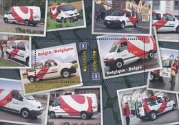 Belgique België 4292/93 Camionettes De La Poste Renault Kangoo Et Master, Europa - 2013