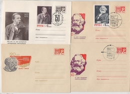 MARX Lot 4 Cover Stationery USSR Engels Leningrad Penza - Karl Marx