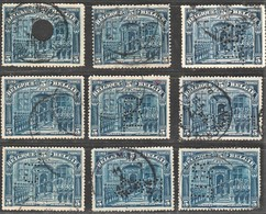 OCB N°148.  9 Zegels Mer Perfins - 1909-34