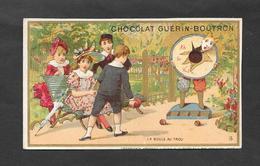 Chromo Doré J MINOT Chocolat Guerin Boutron ''La Boule Au Trou'' OTTIMO STATO - Guerin Boutron
