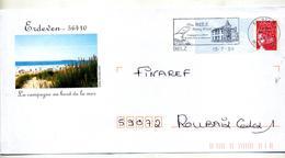 Pap Luquet  Flamme Belz Fleuri Theme Oiseau Illustré Erdeven - Postal Stamped Stationery