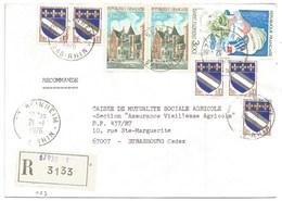 C23 - BAS RHIN - BEINHEIM - 1976 - ROND Avec CODE POSTAL 67 - Recommandé - - 1961-....
