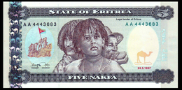 # # # Banknote Eritrea 5 Nakfa UNC # # # - Eritrea