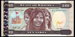 # # # Banknote Eritrea 10 Nakfa UNC # # # - Eritrea