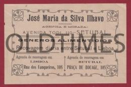 PORTUGAL -  SETÚBAL - JOSE MARIA DA SILVA ILHAVO - GÉNEROS ALIMENTICIOS - FACTURA 1920 - Portugal