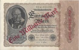 ALLEMAGNE - 1000 Mark 1922 (92E295709) - [ 3] 1918-1933 : Weimar Republic