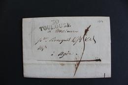1813 LAC, TOULOUSE 30 MARQUE LINEAIRE, POUR AGDE TAXE MANUSCRITE 4 DECIMES, DATEE DU 17/07/1813.. - 1801-1848: Précurseurs XIX