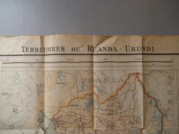 Kaart   TERRITOIRES  DU  RUANDA  -- URUNDI  1938--39 - Geographische Kaarten