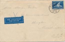 Nederlands Indië - 1940 - 20 Cent Sociaal Bureau - Enkelfrankering Op Cover Van Malang Naar Abington Mass / USA - Indes Néerlandaises