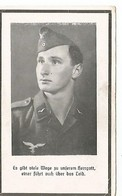 Sterbebild ,carte De Décès LUFTWAFFE , Gefreiter Funker . ROUMANIE 1944 . DEATH CARD - 1939-45