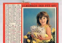 ALMANACH DES PTT 1973 - REGION PARISIENNE - Calendars