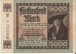 ALLEMAGNE - 5000 Mark - 2 Décembre 1922 (024754) - 5000 Mark