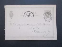 Dänemark 1891 Ganzsache P 17 Mit Gedrucktem Text Foreningen 18. Regiment 1864 Kongens Klub Ostergade - Cartas