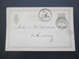 Dänemark 1892 Ganzsache P 17 Mit Gedrucktem Text Kunstnerforeningen Af 18. Novbr. Kunstnermode Chicago Udstillingen - Cartas