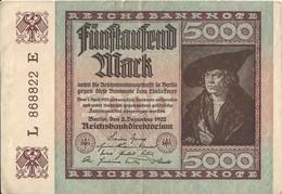 ALLEMAGNE - 5000 Mark - 2 Décembre 1922 (868822) - 5000 Mark