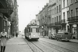 Bruxelles-Chaussée D'Alsemberg (Place Albert). Tramway Ligne 91. Cliché Jacques Bazin. 23-12-1957 - Tramways