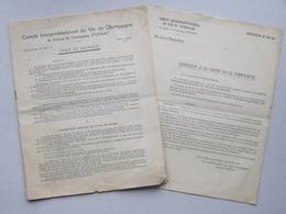 Comité Interprofessionnel Vin De CHAMPAGNE: Livret 1945 Taux De Marque Cotisation Détermination Prix De Vente - EPERNAY - Old Paper