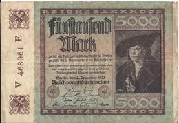 ALLEMAGNE - 5000 Mark - 2 Décembre 1922 (468961) - 5000 Mark