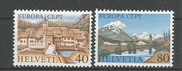 Switzerland 1977 Europa Tourism  Y.T. 1024/1025 ** - Neufs