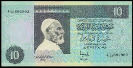 # # # Banknote Libyen (Libya) 10 Dinars (P-61, 1991) UNC- # # # - Libya