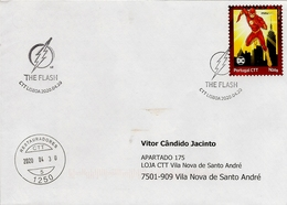 """PORTUGAL - """"meuselo"""" And Postmark - DC Comics The Flash (Real Circulated) - Fairy Tales, Popular Stories & Legends"""