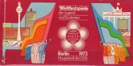 Weltfestspiele Berlin 1973 DDR MH 7 ** 5€ Weltjugend-Festival Markenheft Mit HBl.16+17 Ss Carnet Booklet Bf Germany - [6] Democratic Republic