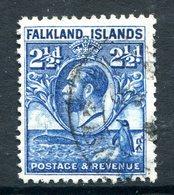 Falkland Islands 1929 KGV Whale & Penguins - 2½d Blue Used (SG 119) - Falklandeilanden