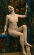 NU CURIOSA - Carte Photo ART DECO - Femme Nue Seins Nus - Nude - Collier Bijoux - érotisme érotique - Nus Adultes (< 1960)