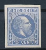 Nederlands Indië - 1868 - 15 Cent Willem III, Proef 13e - Ultramarijn - Niederländisch-Indien