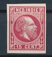 Nederlands Indië - 1868 - 15 Cent Willem III, Proef 13g - Rood - Niederländisch-Indien
