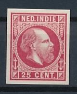 Nederlands Indië - 1868 - 25 Cent Willem III, Proef 15g - Rood - Niederländisch-Indien