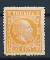 Nederlands Indië - 1868 - 50 Cent Willem III, Proef 22h - Oranje - Niederländisch-Indien