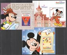 H118 ANTIGUA & BARBUDA EURO DISNEY PARIS OUVERTURE 3BL MNH - Disney