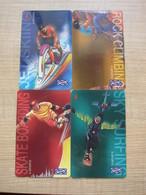 Uniphone GPT Phonecard,91USBA,B,C,D X-sports,set Of 4,used - Malaysia