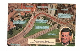 DALLAS, Texas, USA, Assassination Scene Of President Kennedy, Old Chrome Postcard - Dallas