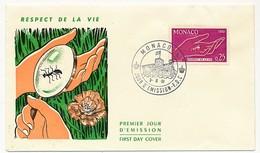 "MONACO => 3 Enveloppes FDC - 0,25 ""Respect De La Vie"" (Fourmi) 3/6/1961 - FDC"
