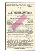 Z 371. Moeder MARIE-LUTGARDIS  (M. MOTMANS) - Algemeen Overste AUGUSTINESSEN - °ALKEN 1870 /+ST-TRUIDEN 1936 - Images Religieuses