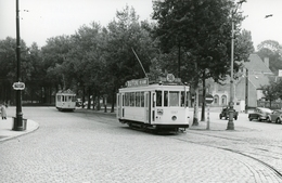 Bruxelles-Boitsfort. Tramway Ligne 98. Cliché Jacques Bazin. 19-08-1952 - Tramways
