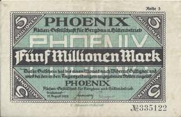 ALLEMAGNE - 5 Millionem - 15 August 1923 (335122) - [ 3] 1918-1933 : République De Weimar