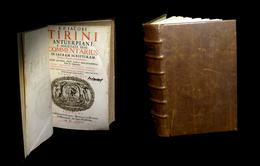 [Imp. LYON THEOLOGIE BIBLE BIBLIA ANTWERPEN] TIRINI / TIRINIUS - Commentarius In Sacram Scripturam. 1678. - Livres, BD, Revues