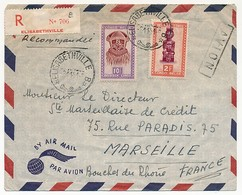 Congo Belge - Enveloppe Rec D' ELISABETHVILLE Pour Marseille  1951 - 1947-60: Covers