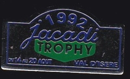 64915 -Pin's.Jacadi Trophy, Véritable Rallye Raid Automobile.Val D'Isère. - Rallye