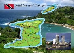 Trinidad And Tobago Country Map New Postcard Landkarte AK - Trinidad