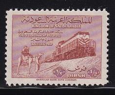 Saoudi Arabia 1952, Train, Minr 44 MNH. Cv 11 Euro - Saudi-Arabien