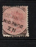 New Zealand 1888 / 1905 One Shilling Red Brown  Wmk 12b      Used Dunedin Cds - Used Stamps