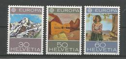 Switzerland 1975 Europa Art  Y.T. 980/982 ** - Neufs