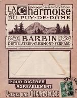 N° 137 S / Env Pub La Charmoise Du Puy De Dôme BARBIN DISTILLATEUR  T.P. Ob Clermont Ferrand 27 3 17 - 1921-1960: Période Moderne